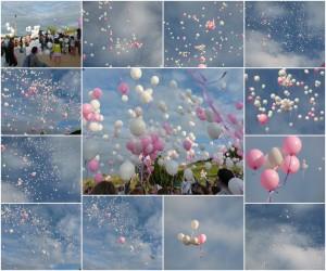 Magnifique lâcher de Ballons